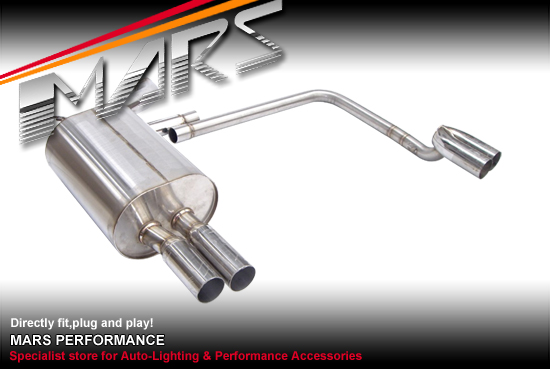 M5 Style Twin Outlet Muffler Exhaust For Bmw E39 L6 95 03