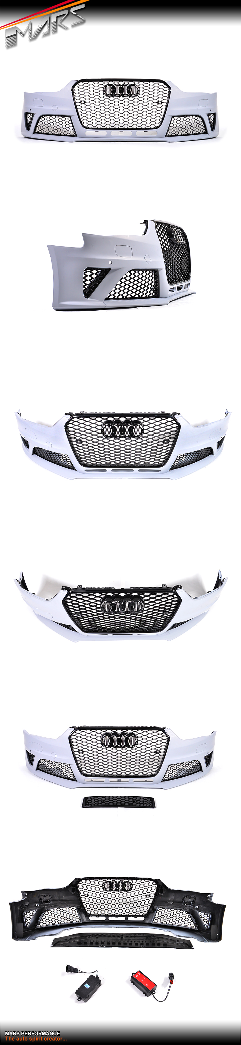 RS4 Style Front Bumper Bar with Grille for AUDI A4 S4 B8 12