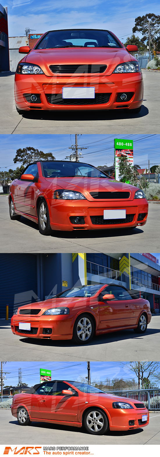 opel opc turbo style front bumper bar for holden astra g. Black Bedroom Furniture Sets. Home Design Ideas