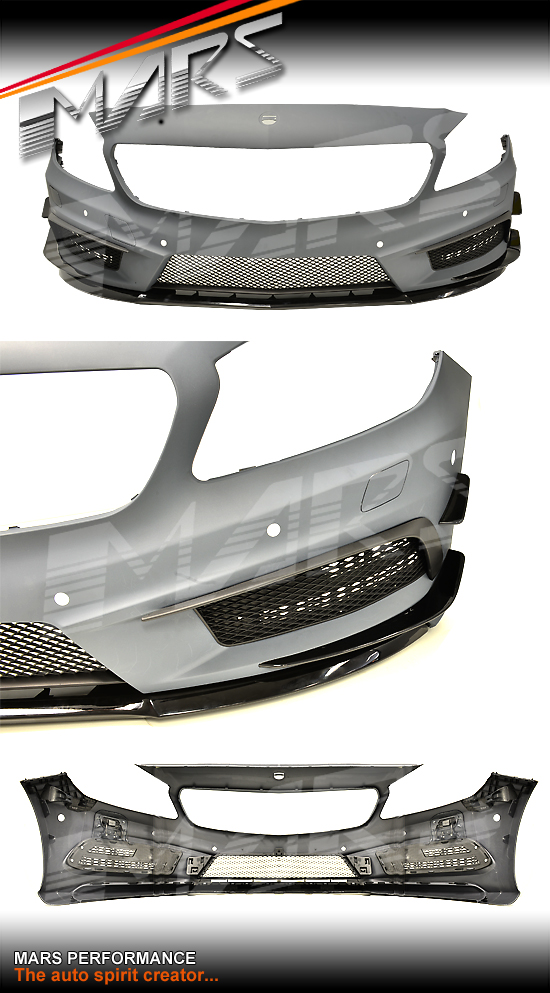 Amg a45 style front bumper bar for mercedes benz a class for Mercedes benz bumper repair