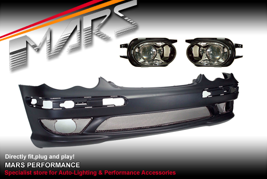 AMG Style Front Bumper Bar for Mercedes-Benz C-Class W203 Sedan