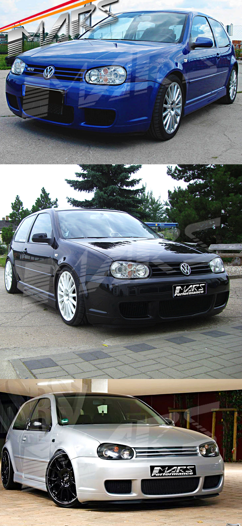 Mk4 R32 Style Front Bumper Bar For Volkswagen Vw Golf Iv