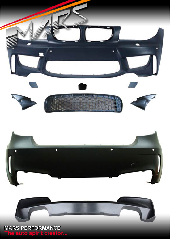 1m Style Front Amp Rear Twin Exhaust Outlet Bumper Bar For