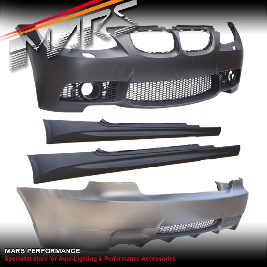 M3 Style Front Rear Bumper Bar Side Skirts BMW E92 06-09