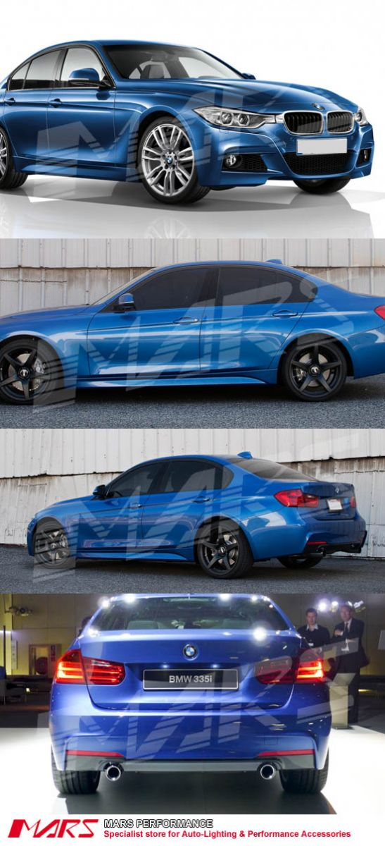 Bmw Repair Shops >> BMW F30 M Tech Sports Style Side Skirts & Front Bumper & Rear Bumper with Twin Exhaust Outlet ...