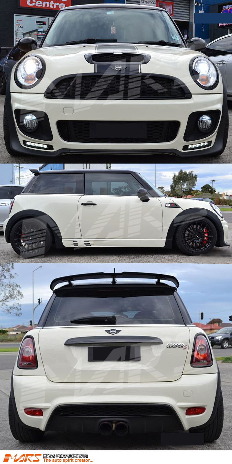 jcw style grill front rear bumper bar side skirts. Black Bedroom Furniture Sets. Home Design Ideas