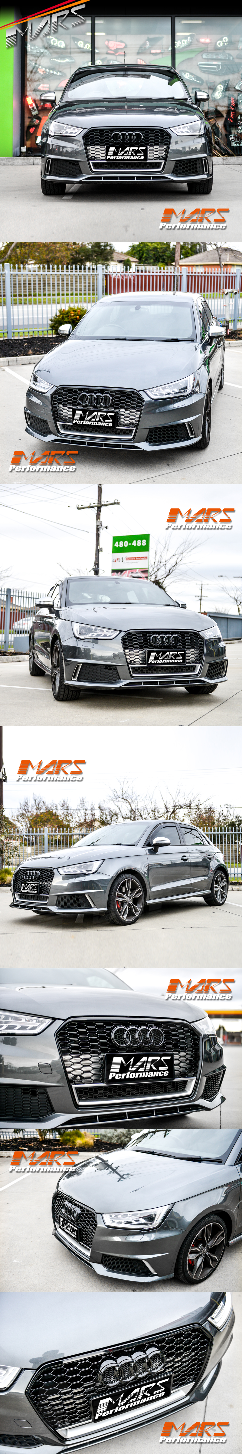 Details About Gloss Black Rs1 Honeycomb Style Bumper Bar Grille Grill For Audi A1 8x 15 18