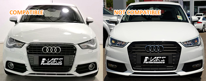 Rs1 Honeycomb Style Front Bumper Bar Fog Light Grille Cover For Audi