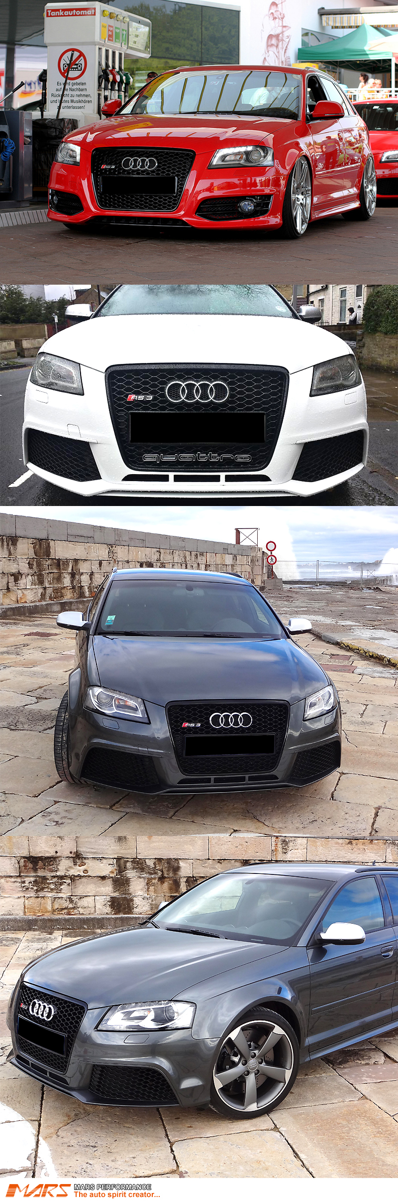 gloss black honeycomb rs3 style front bumper grille grill for audi a3 8p 09 12 ebay. Black Bedroom Furniture Sets. Home Design Ideas