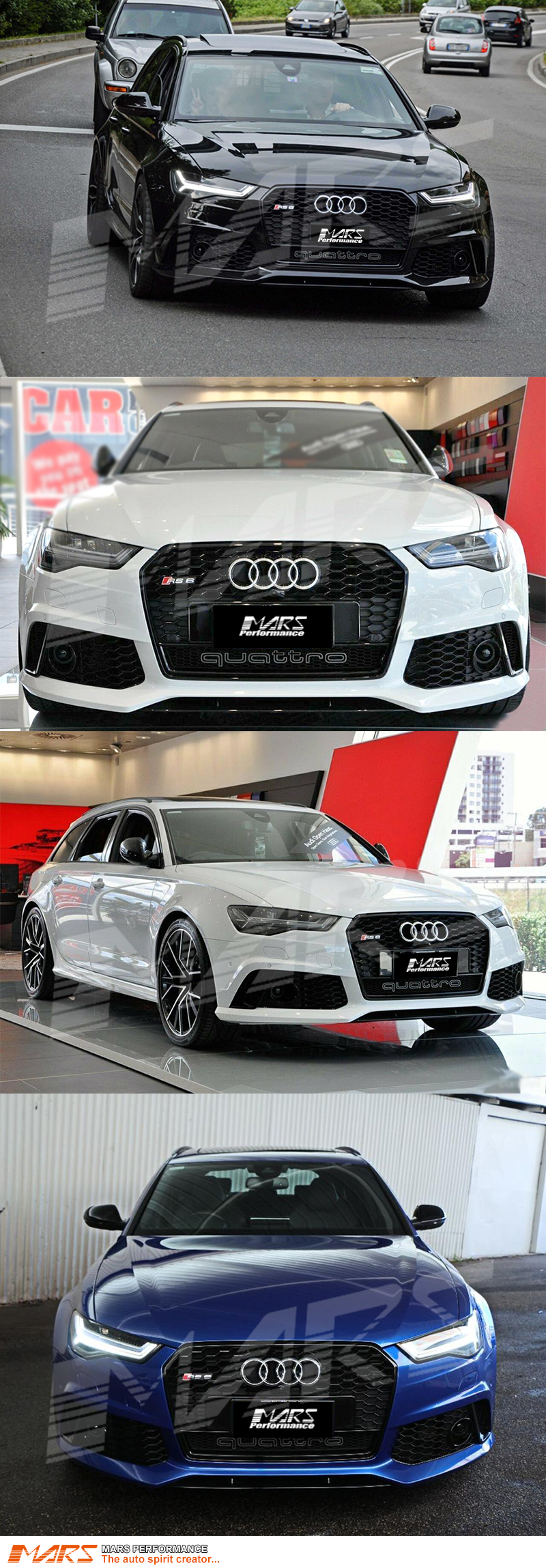 Gloss Black QUATTRO RS6 Style Front Bumper Bar Grille for AUDI A6 S6 on 2007 audi rs, audi tt coupe, audi a5 rs, audi s rs, audi q7 rs, audi quattro rs, 2005 audi rs, audi a7 rs, audi rs 10, audi rs6 avant usa, audi q5 rs, audi a8 rs, audi a4 wagon, 2001 audi rs, audi estate v1.0, audi tt rs, audi r8 rs, audi rs v10, audi a3 rs, audi rs 5 coupe,