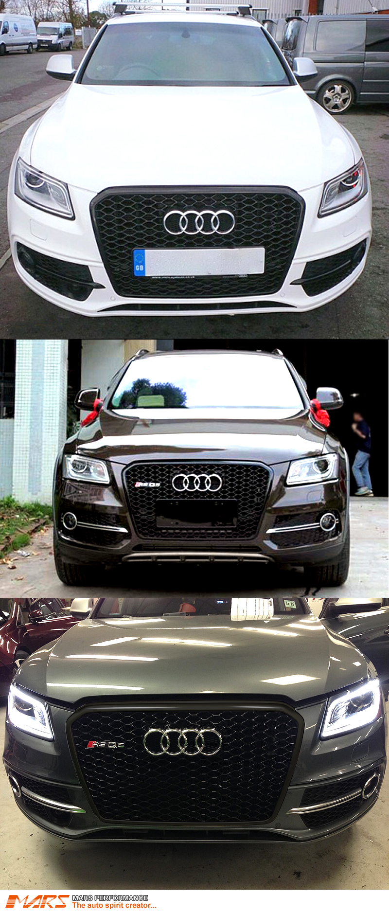 gloss black honeycomb rs q5 style front bumper grille grill for audi q5 8r 13 16 ebay. Black Bedroom Furniture Sets. Home Design Ideas