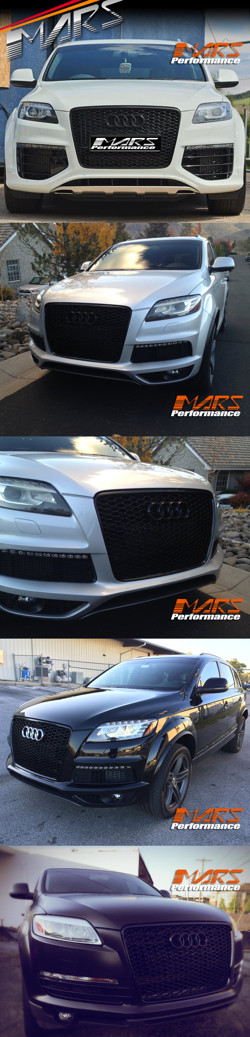 Details about Gloss Black Honeycomb RS-Q7 Style Front Bumper Grille Grill  for AUDI Q7 06-15