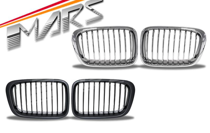 chrome bumper grille grill for bmw e46 sedan 98