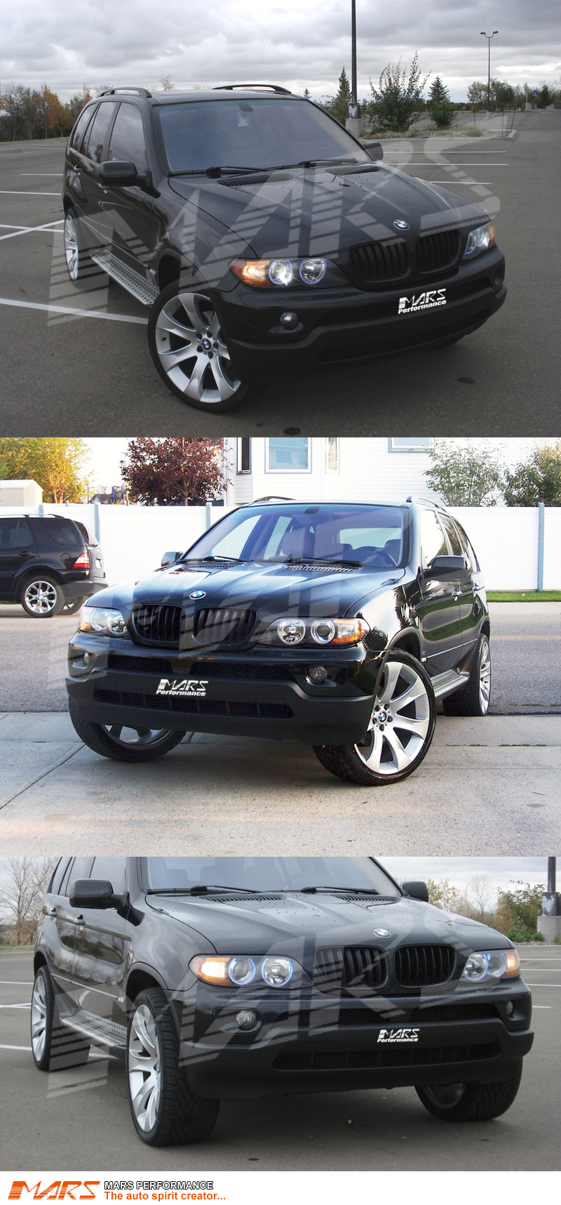 Chrome Silver X5M Style Front Hood Kidney Grille for BMW X5 E53 04-06 LCI Grill