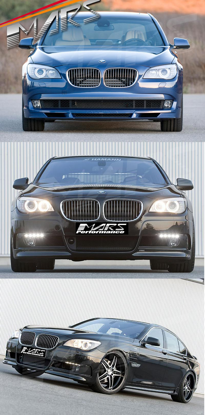 Chrome Silver Front Kidney Grille for BMW 7 Series F01 F02 ...