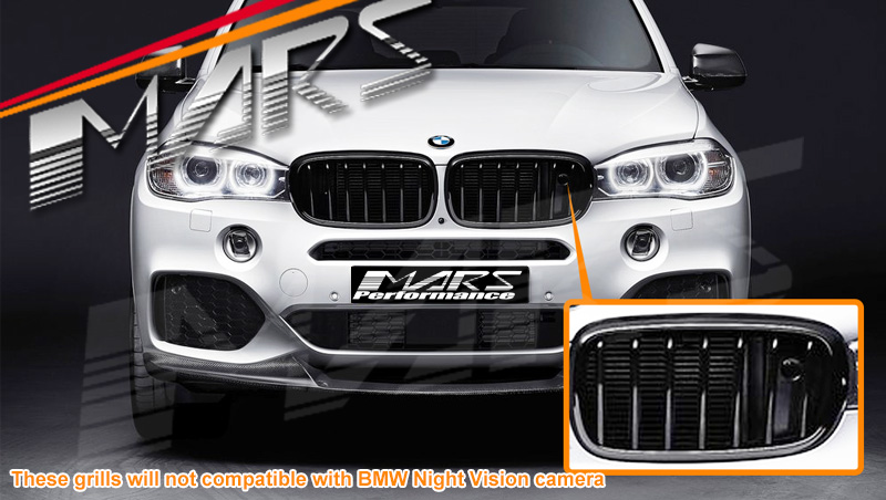 Matt Black X6m Style Front Bumper Bar Kidney Grille For