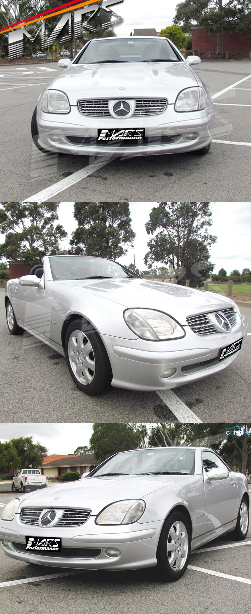 Chrome silver amg style front bumper bar grille for for Chrome mercedes benz