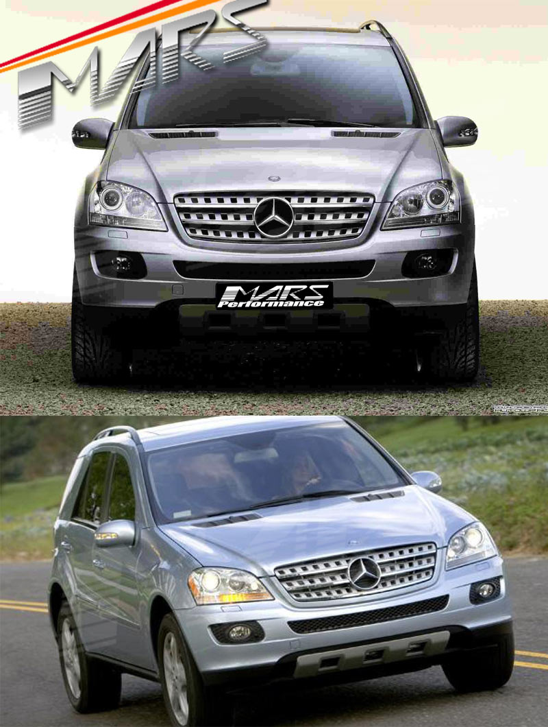 Chrome silver amg style front grille for mercedes benz ml for Mercedes benz grills