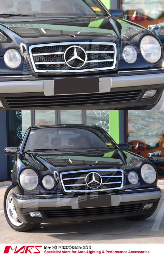 Chrome black amg style front grille for mercedes benz e class w210 95