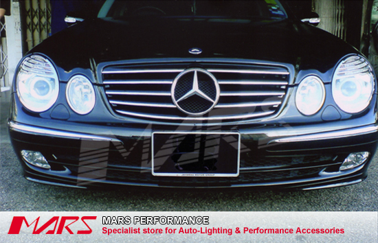Chrome black cl5 style front grille for mercedes benz e class w211 03