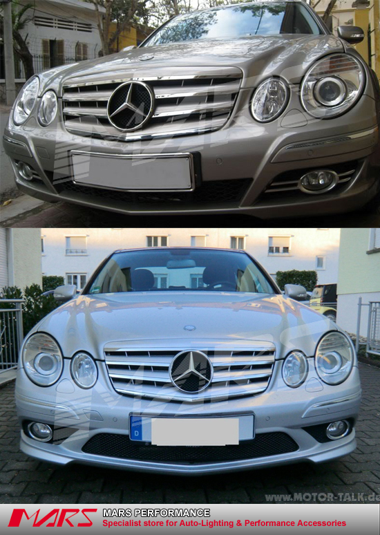Chrome silver cl4 style front grille for mercedes benz e class w211 07