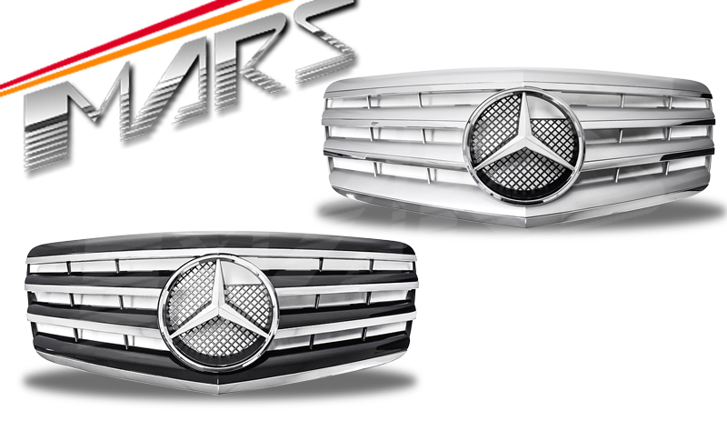 chrome silver cl4 style front bumper bar grille for