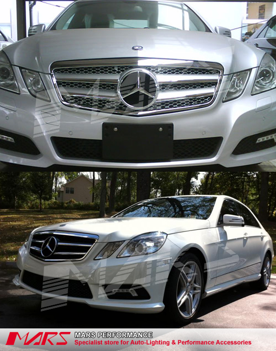 silver amg style front bumper grille grill for mercedes. Black Bedroom Furniture Sets. Home Design Ideas