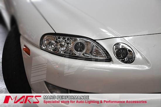 Crystal CCFL Angel Eyes Projector Low Beam Head Lights For Toyota Soarer U0026  Lexus SC300 SC400