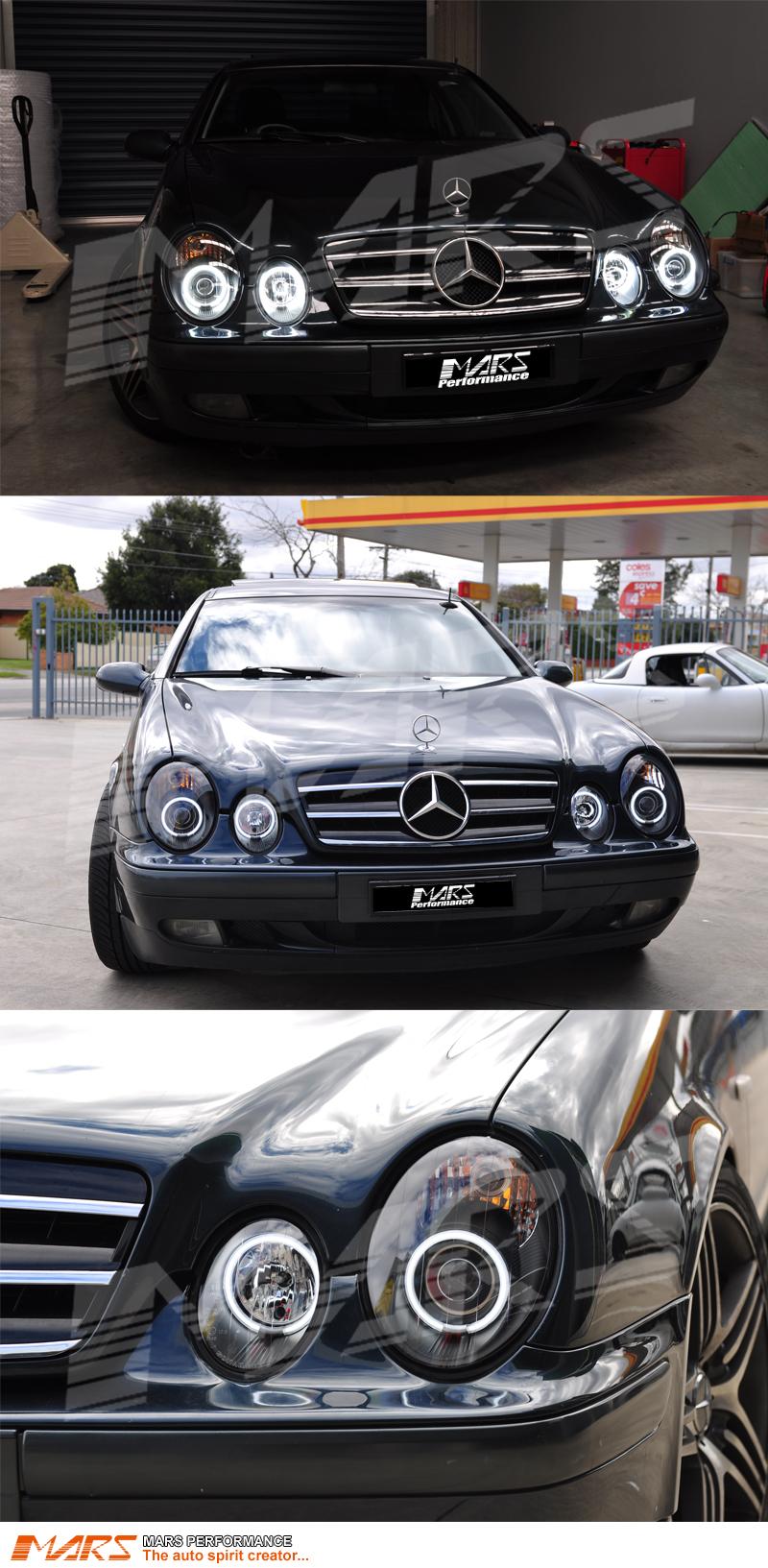 C208, A208 Pour Mercedes CLK 1997-2002 Lo High Beam XENON H7 H7 Ampoules De Phare