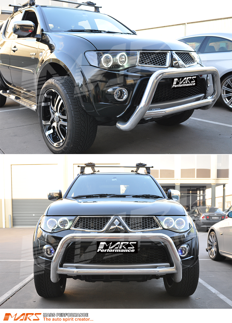 Black Ccfl Angel Eyes Projector Head Lights For Mitsubishi