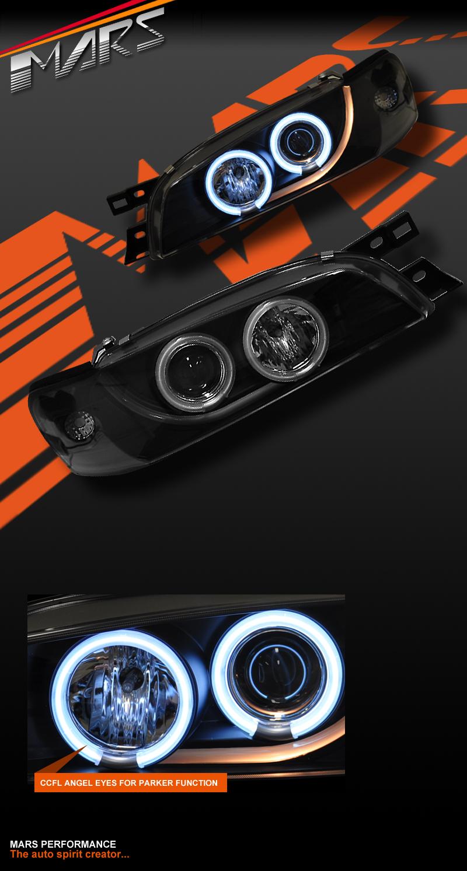 Black Ccfl Angel Eyes Projector Head Lights For Subaru Impreza Gc8 Wiring Diagram Details