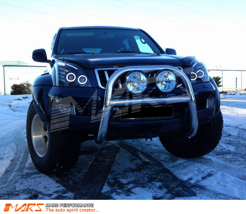Black High Power Angel Eyes Projector Head Lights For
