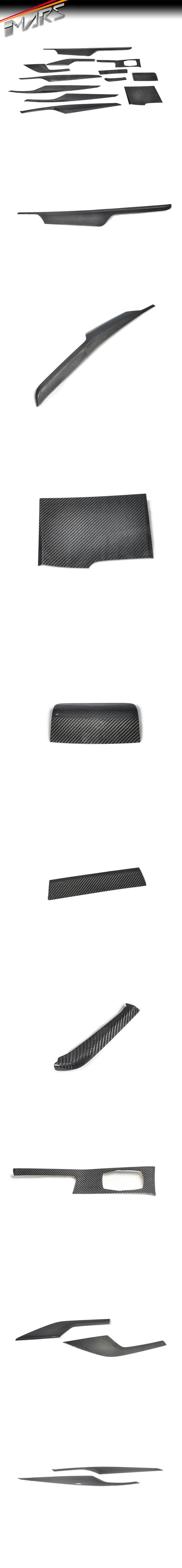Real Carbon Fibre RHD Interior Dash Trim & Door Handle Covers for