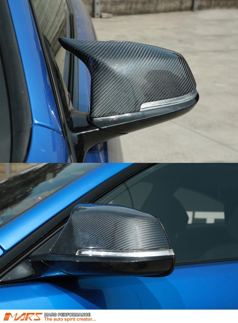 M3 M4 Style Carbon Fibre Mirror Caps Replacement For Bmw
