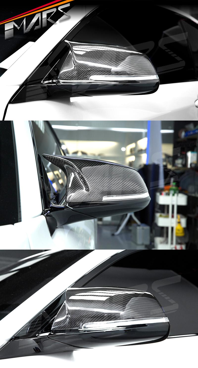FOR 13-18 BMW F30 F31 F22 F23 Black Replacement Performance Style Mirror Covers