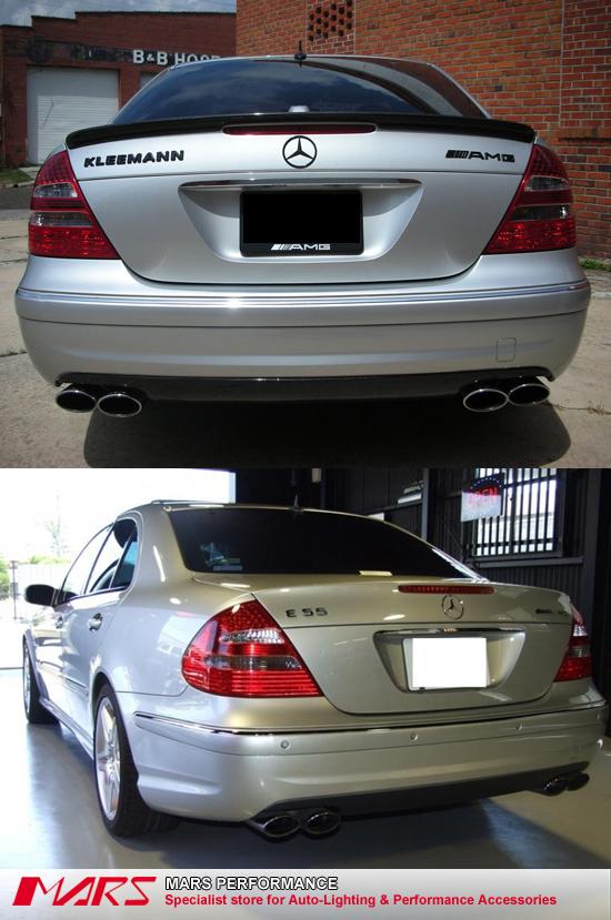 Amg e63 style rear bumper bar for mercedes benz e class for Mercedes benz bumper repair
