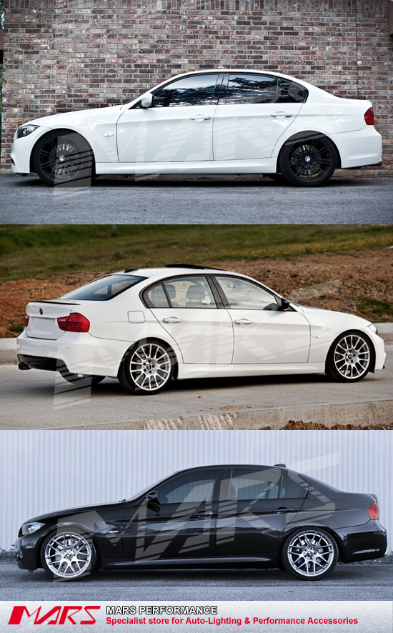 M Tech Sports Style Side Skirts For Bmw E90 09 11 Lci