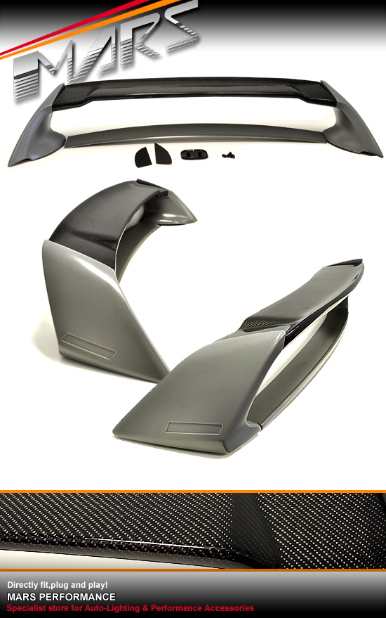 Honda Civic Aftermarket Parts >> Mugen RR Style Carbon & ABS Plastic Rear Trunk Spoiler for ...