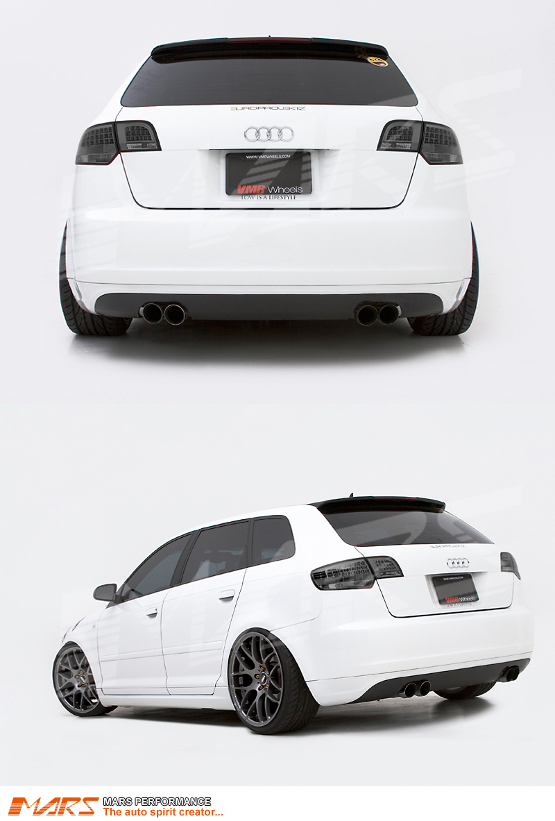 Smoked Black Led Tail Lights For Audi A3 8p Hatchback 05