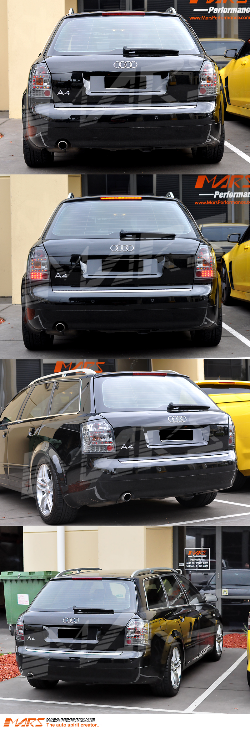 Audi A4 S4 Rs4 B6 Avant Sports Wagon Smoked Led Taillight