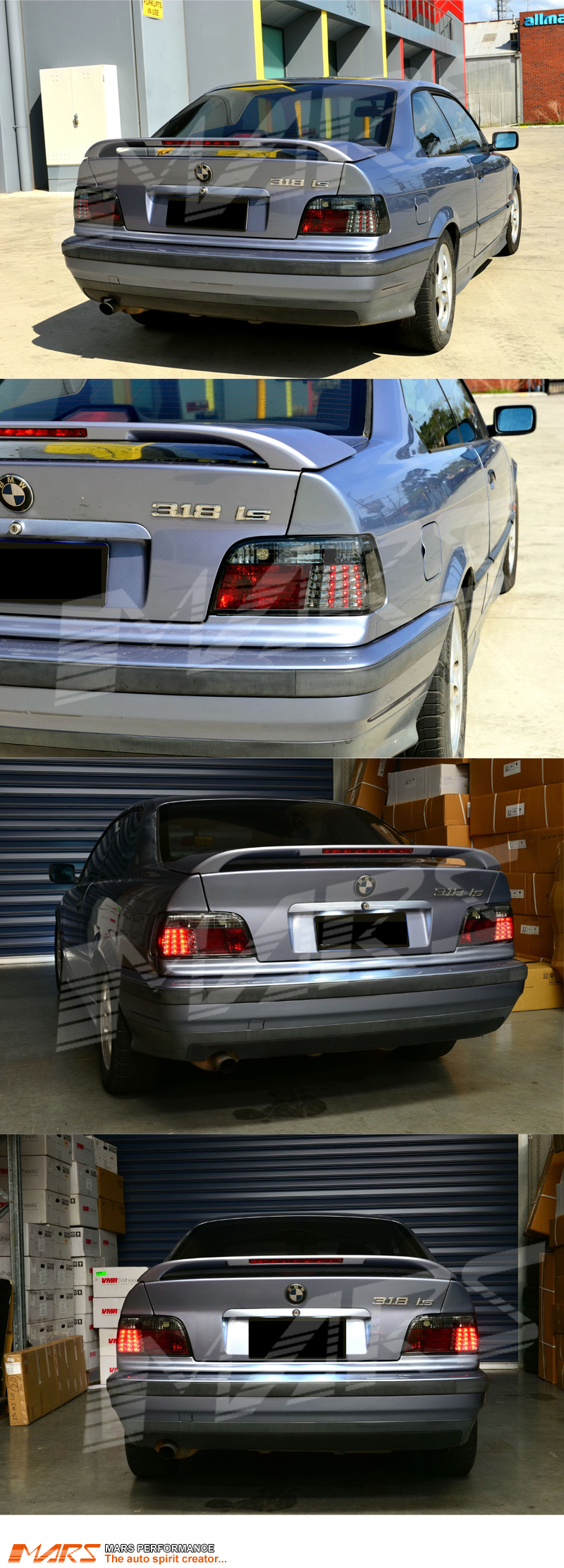Smoked Led Tail Lights For Bmw E36 3 Series 2d Coupe 318 318 320 323 325 328 Ebay