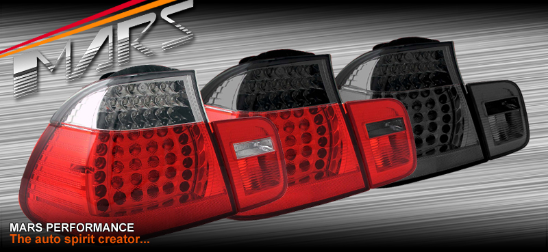 Smoked M3 LED Tail Lights for BMW E46 03-05 Coupe 320Ci ...