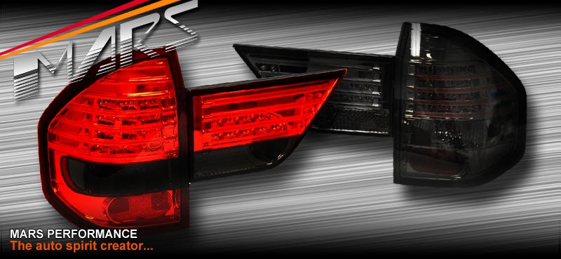 BMW Aftermarket Parts >> Smoked Red Led Tail lights with Garnish for BMW E83 X3 04-10 | Mars Performance