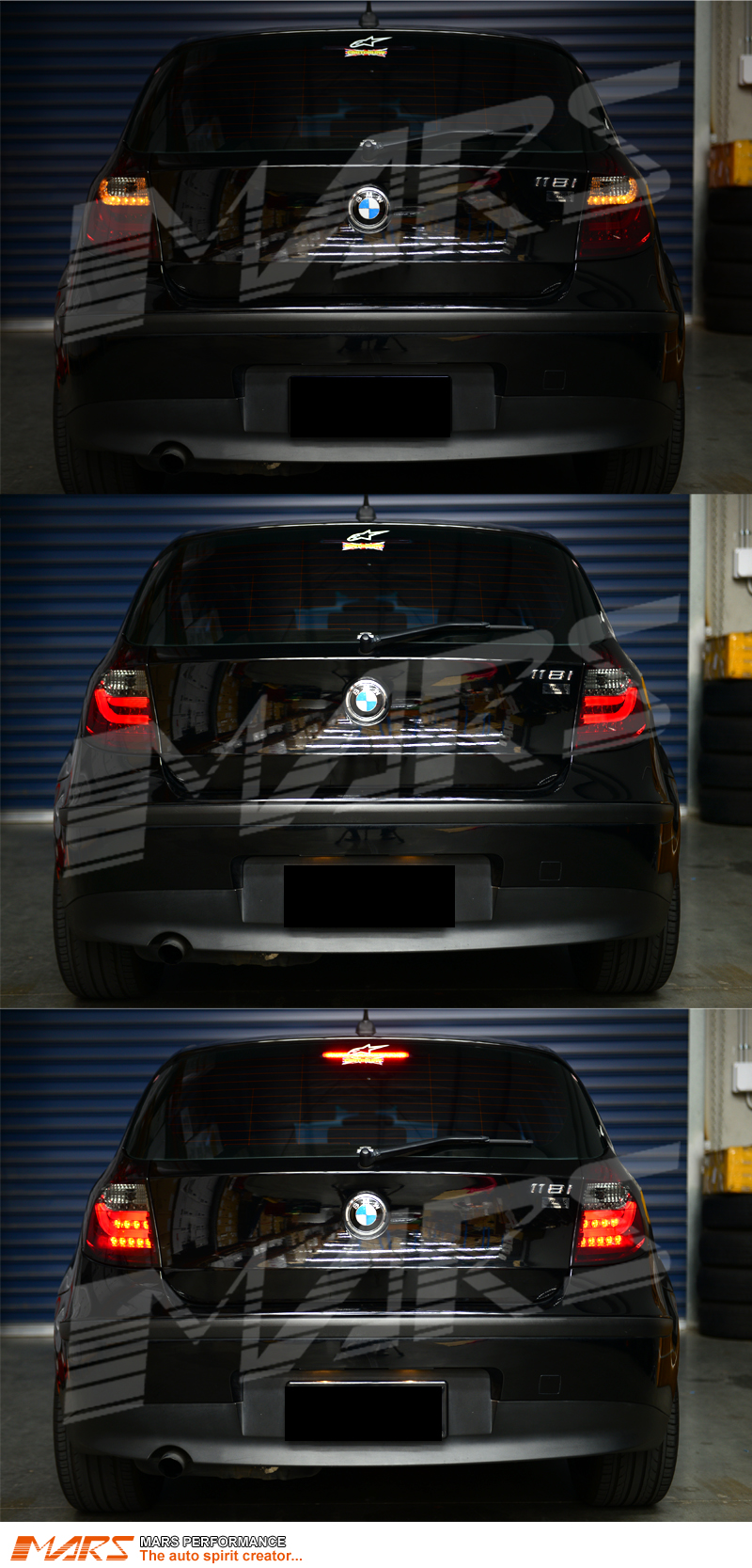 smoked red 3d led tail lights for bmw 1 series e81 e87. Black Bedroom Furniture Sets. Home Design Ideas