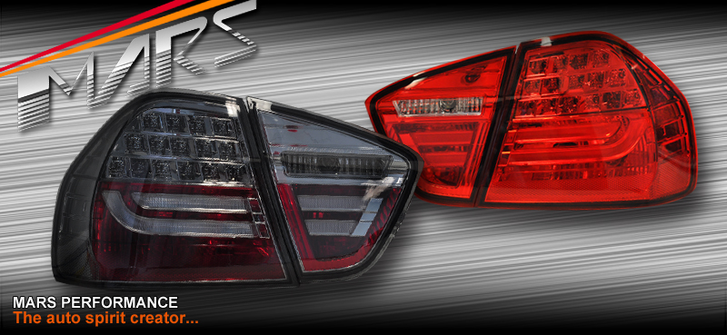 m3 lci style led tail lights bmw e90 05 08 320i 323i 325i. Black Bedroom Furniture Sets. Home Design Ideas