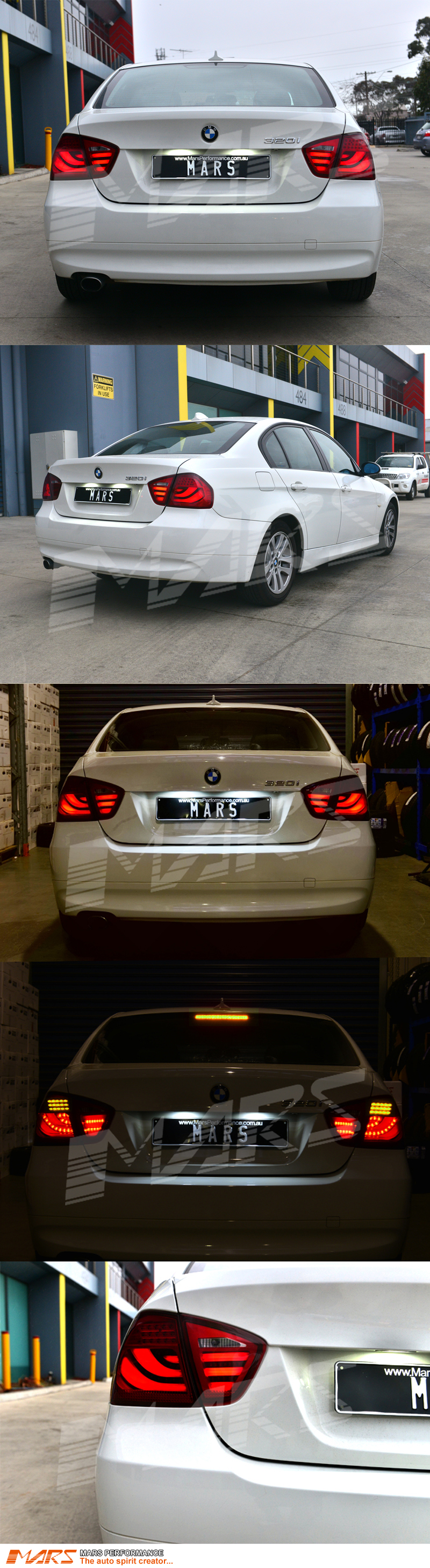 full red 3d stripe bar led tail lights for bmw 3 series. Black Bedroom Furniture Sets. Home Design Ideas
