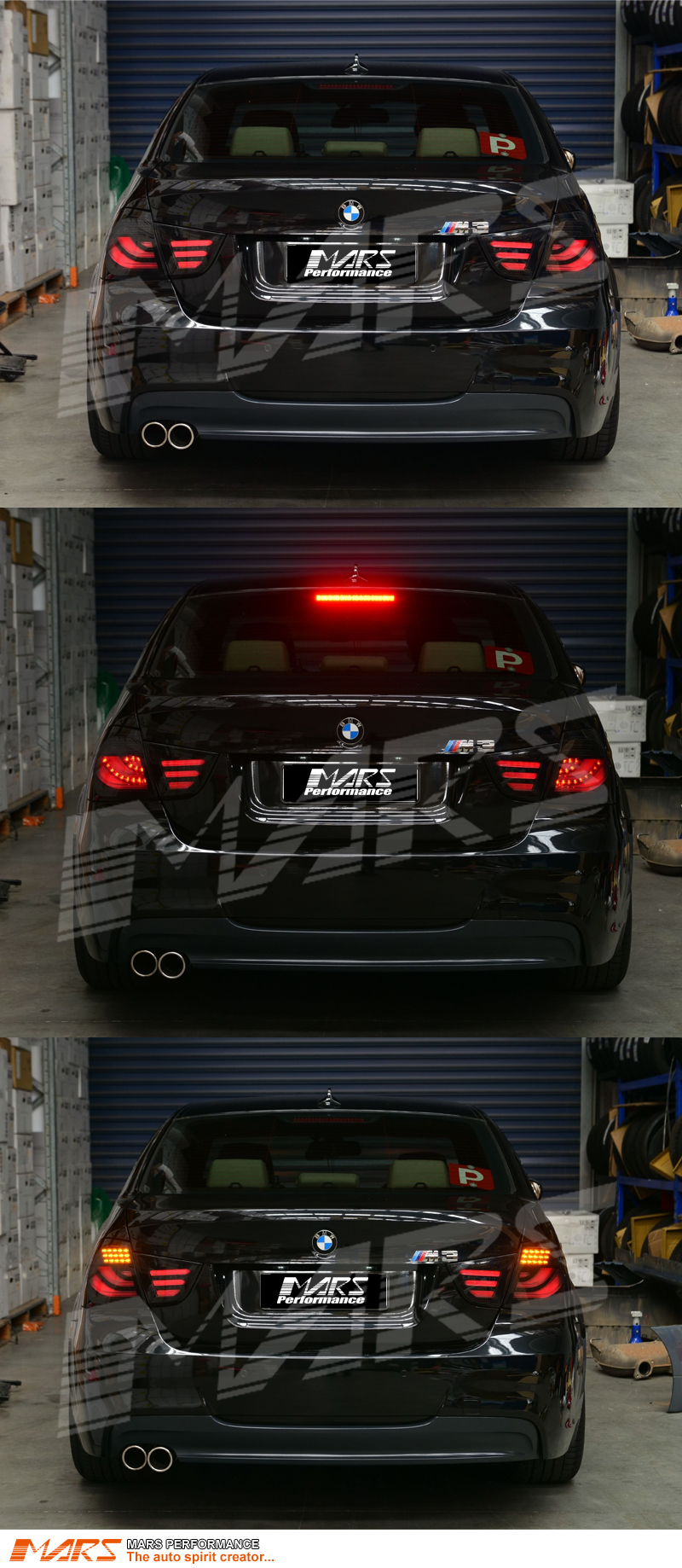 smoked black led tail lights for bmw e90 lci 09 11 320i. Black Bedroom Furniture Sets. Home Design Ideas