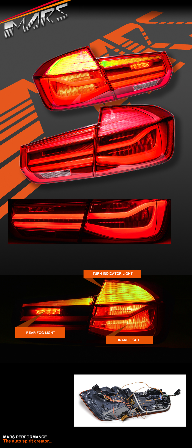 Full Red Lci Style Tail Lights With Led Indicators For Bmw 3 Series