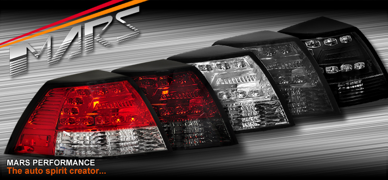 Smoked Led Tail Lights For Holden Commodore Ve Sedan