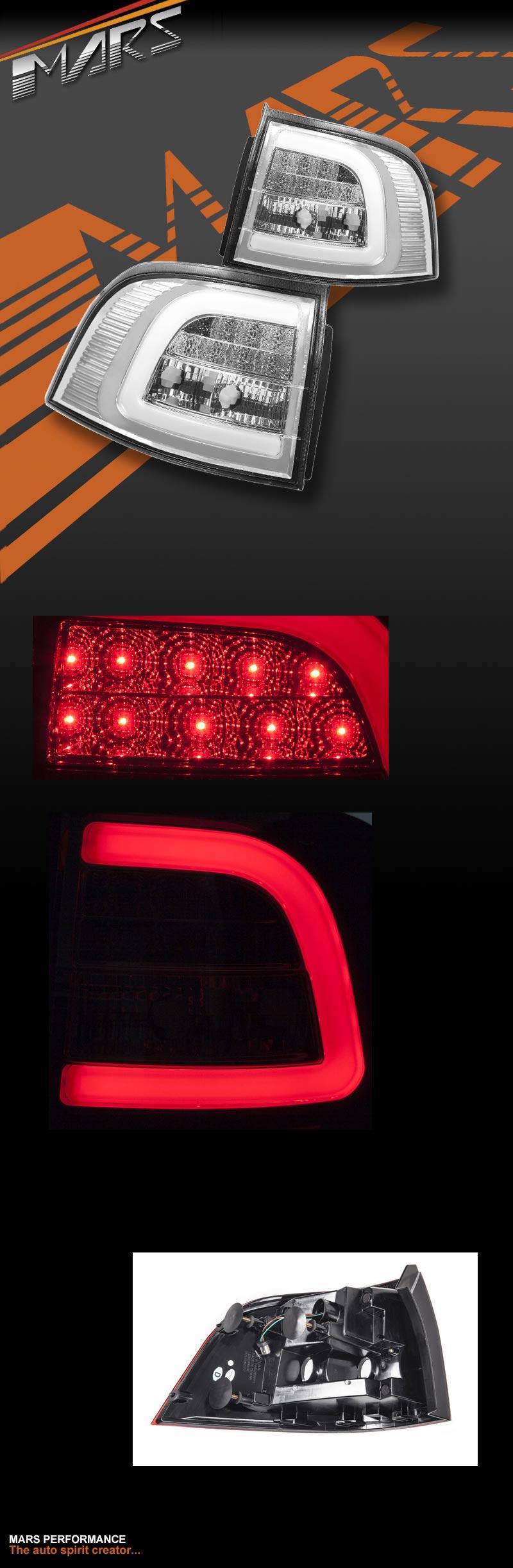 LED TAIL LIGHTS for VE VE2 VF Utes Holden Commodore SS SV6 SSV Red Chrom Housing